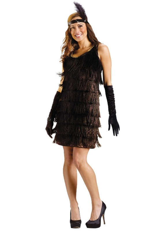 20's Roaring Flapper-Black Adult Costume