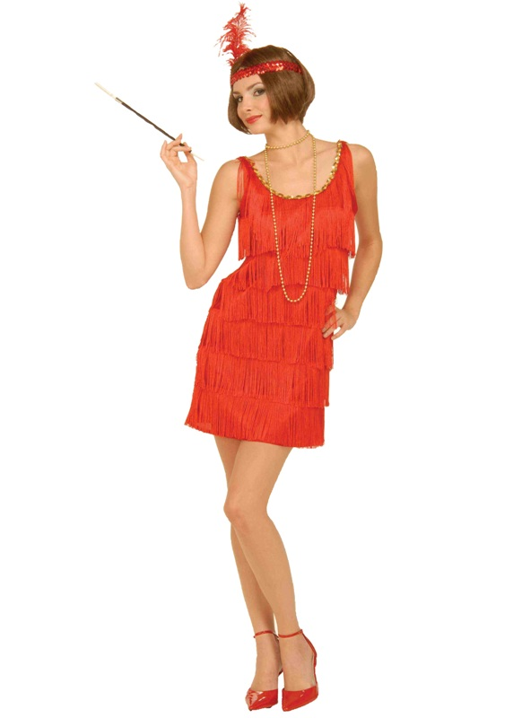 20's Roaring Flapper-Red Adult Costume