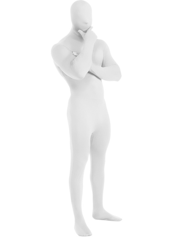 2nd Skin-White Adult Costume