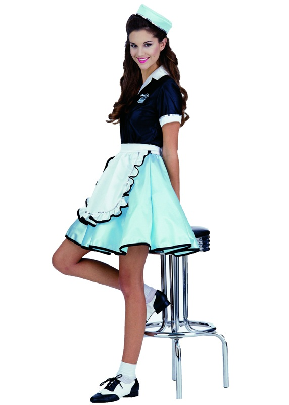 50's Car Hop Girl Adult Costume