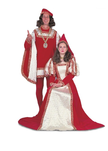 Medieval Jeweled King and Queen Adult Rental Costume