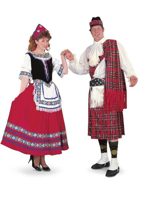 Peasant Girl and Scottsman Adult Rental Costume