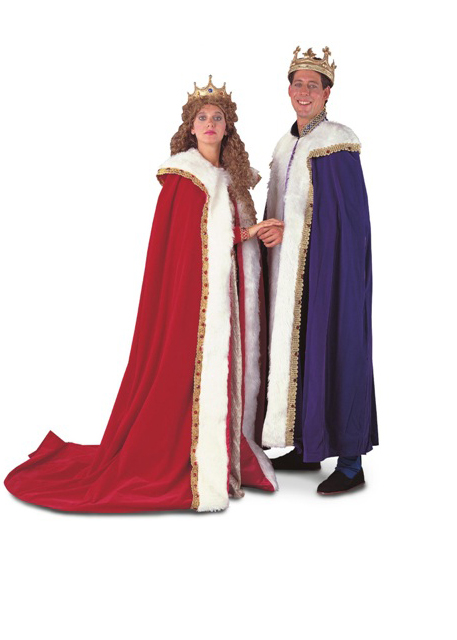 Renaissance Queen and King Robes Adult Rental Costumes