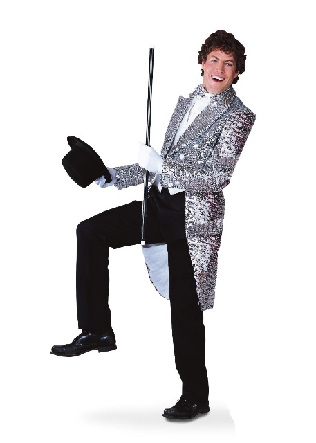 Sequin Tailcoat Jacket Silver