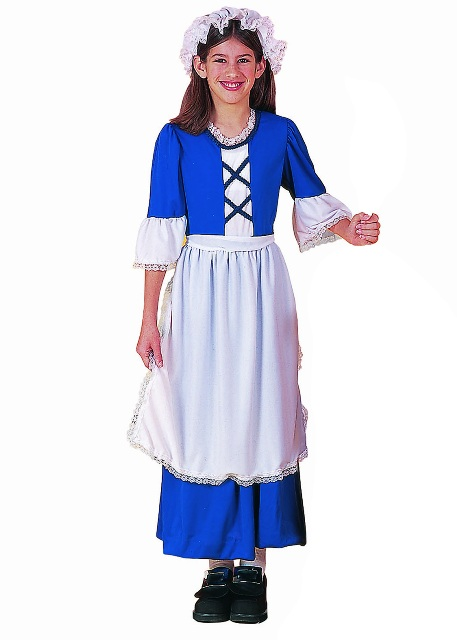 Child Costume Colonial Girl