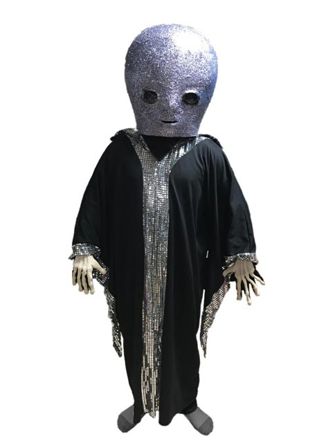 peaceful alien mascot costume
