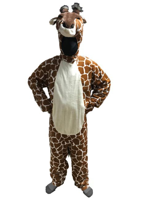 Giraffe Open Faced Mascot Costume For Rent in Los Angeles front