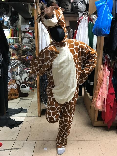 Giraffe Open Faced Mascot Costume For Rent in Los Angeles fun