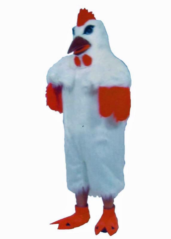 White Chicken Mascot Costume for rent in los angeles