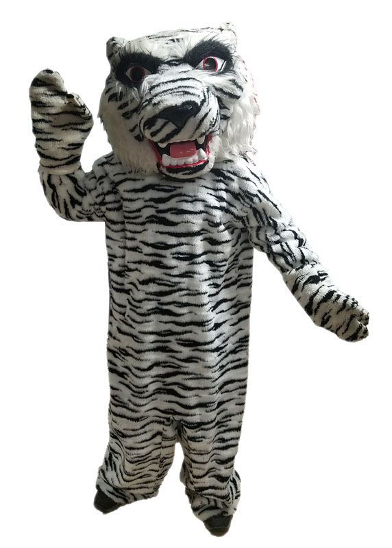 white bengal tiger mascot costume for rent in los angeles