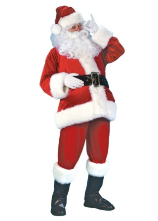 Economy Velvet Santa Suit by Fun World