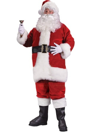 Economy Regency Plush Santa Suit by Rubie's