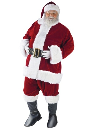 Ultra Velvet Santa Claus Suit 7505 7515 7545 by fun world