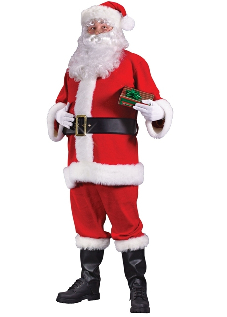 Economy Flannel santa claus Suit by fun world