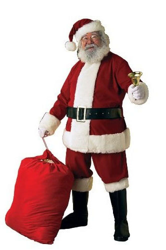 Deluxe Ultra Velvet Santa Claus Suit by Fun World