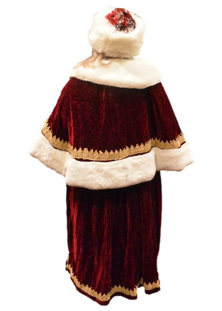 Professional Quality Mrs. Claus Dress In Sultan Velvet