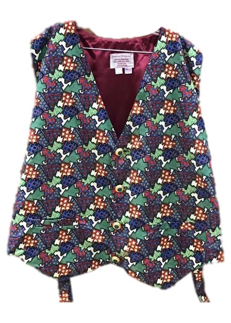 Christmas Tree Collage Santa Claus Vest