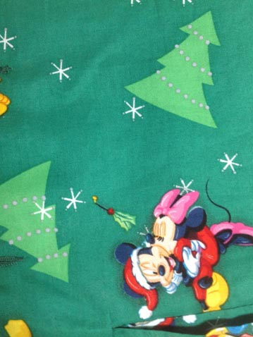 Mickey And Minnie Mouse Christmas santa claus material