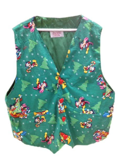 Mickey And Minnie Mouse Christmas Santa Claus Vest