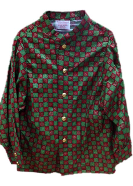 Red And Green Checkered Santa Claus Long Sleeve Shirt