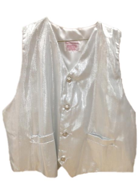 santa claus vest with silver white satin