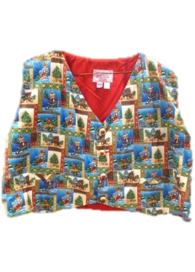 Teddy Bear Christmas Santa Claus Vest