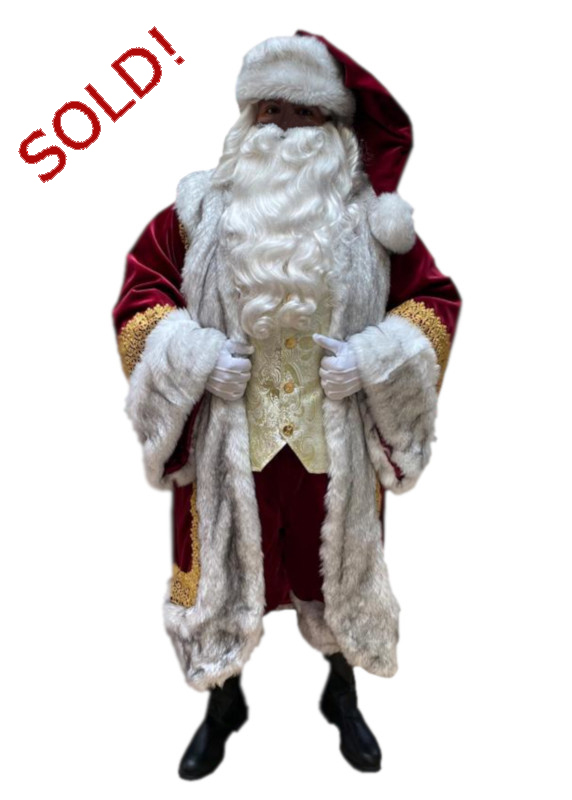 Santa Claus Professional Wardrobe Adele's of Hollywood santa-claus-professional-royal-robe-ensemble-sultan-with-grey-fur-and-gold-trim-front
